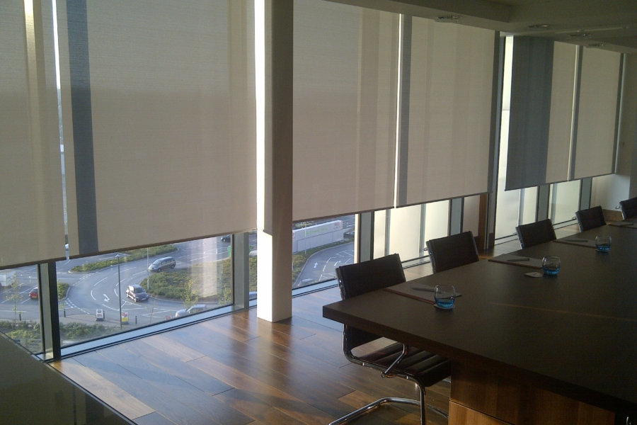 Grey Roller Blinds Corporate Office